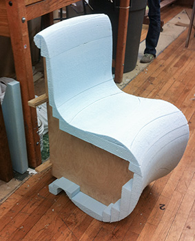 The Final Chair Was About 14 Layers Of Fiberglass Mat, With A Significant  Amount Of Resin. The Embed Foam Piece Provided The Necessary Thickness For  The ...